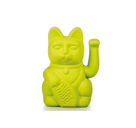 Maneki Neko - Lucky Cat - Neon Green