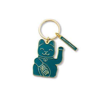 Maneki Neko - Porte-clés - Green