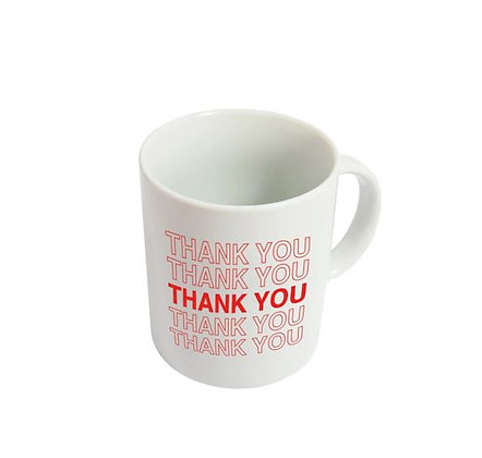 "Mug ""Thank You"" - Blanc et rouge"