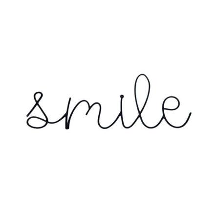 Mot à poser ou accrocher - Smile