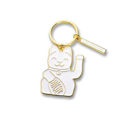 Maneki Neko - Porte-clés - White