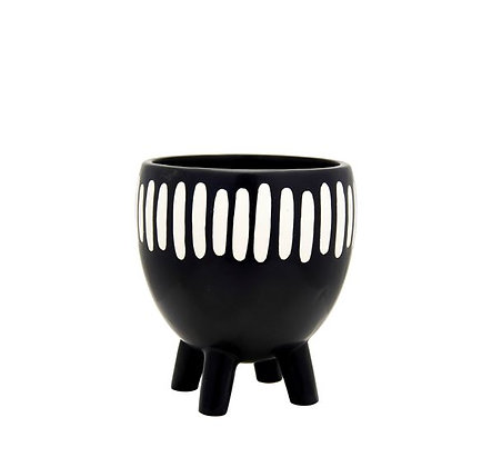 Sass & Belle - Cache-pot - Black and White Rayé