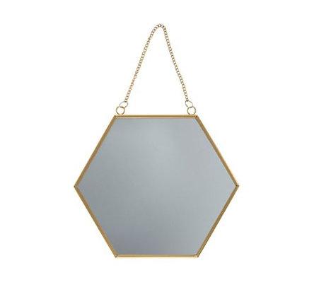 Sass & Belle - Miroir mural - Hexagonal doré