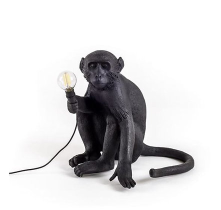 Seletti -  Lampe Monkey - Assis - Black