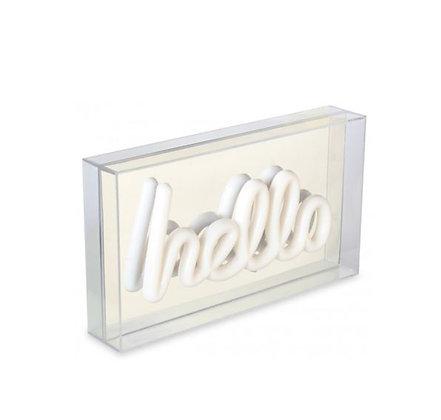 Light-Box - Hello - Argent