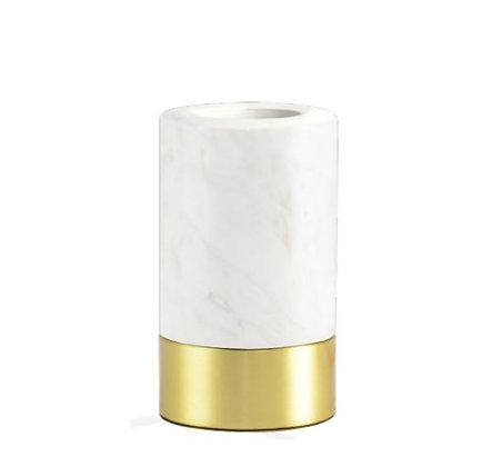MITB - Socle Lampe de Table - Romance - 115 mm - Marbre blanc