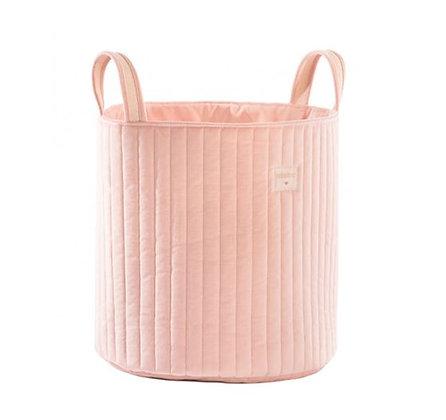 Nobodinoz - Sac à Jouets - Savanna velvet Bloom Pink