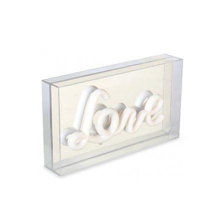 Light-Box - Love - Argent