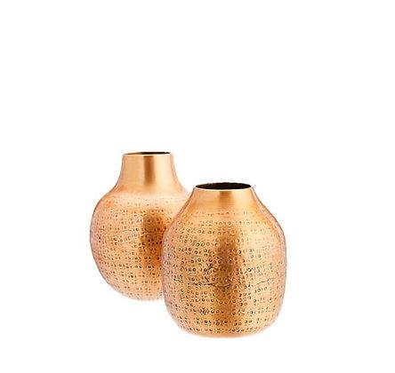 Madam Stoltz - Lot 2 Vases - Métal cuivré