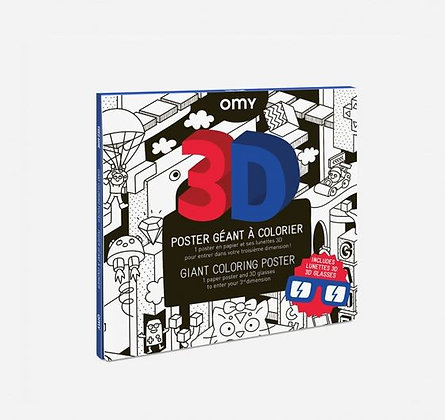 OMY - Poster géant à colorier - 3D Video Games