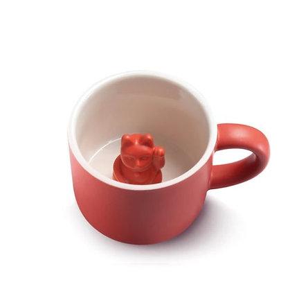 Maneki Neko - Mug - Red