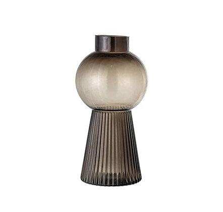 Bloomingville - Bloomingville - Vase - Art Déco  - Gris Transparent