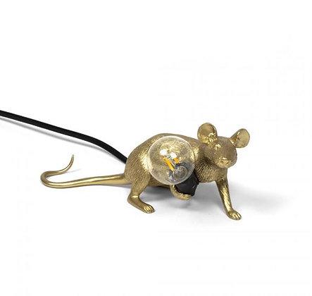 Seletti -  Lampe Mouse - Allongée - Gold