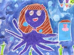章魚姑娘-6歲作品