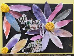 小蜜蜂拼貼-4歲作品