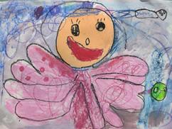 章魚妹妹-4歲作品