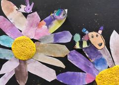 小蜜蜂拼貼畫-4歲