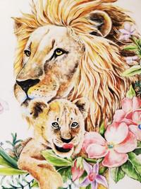 公獅與小獅盤