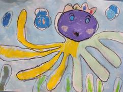 章魚先生-5歲作品