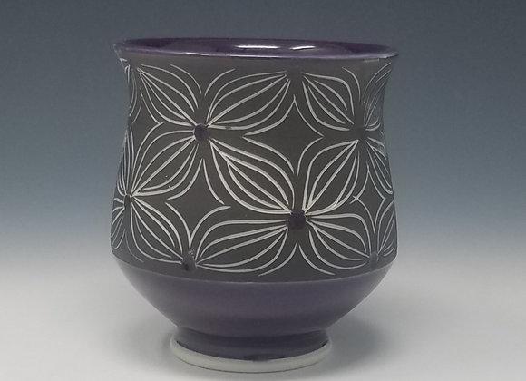 Purple Flower Tea Cup