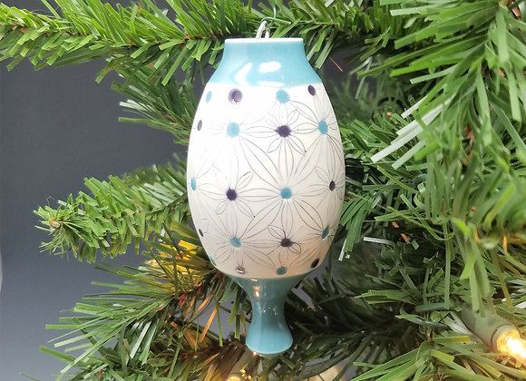 Teal and Purple Flower Ornament