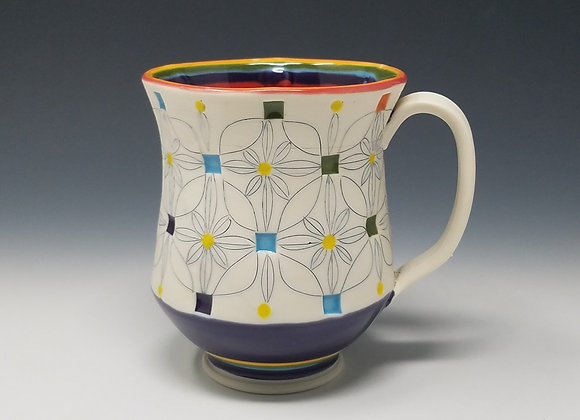 Rainbow Mug with Red interior Glaze