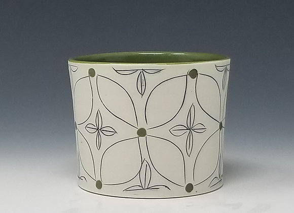 Green Flower Whiskey Cup