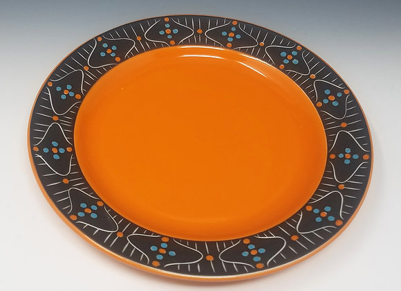 "10"" Dinner plate with Mid Century Modern Pattern"