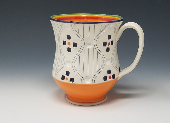 Rainbow Mug with Orange interior Glaze