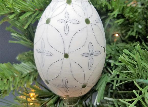 Green Flower Ornament