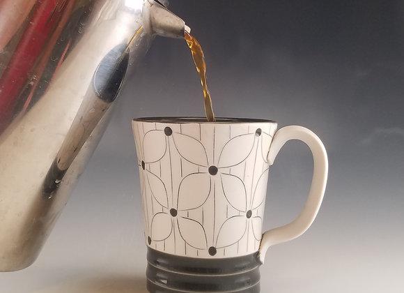 Flower with Lines Mug