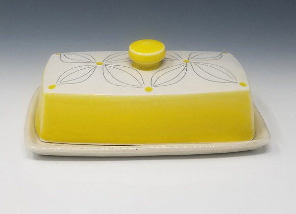 Double Flower Butter Dish