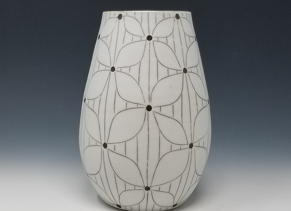 Small Vase with Flower Pattern