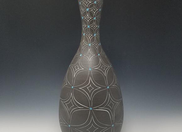 Single Flower Vase with Flower Pattern