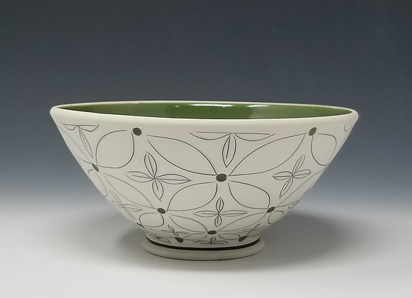 Green Flower Cereal Bowl