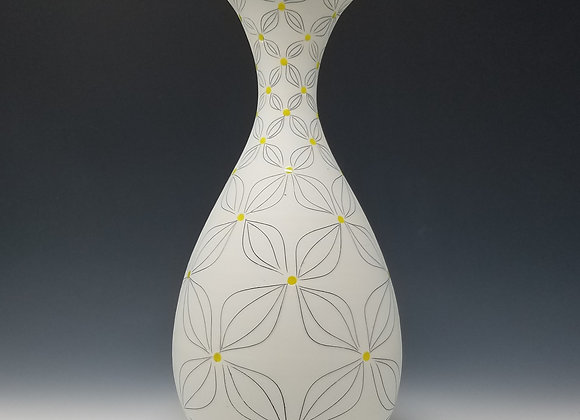 Single Flower Vase with Double Flower Pattern