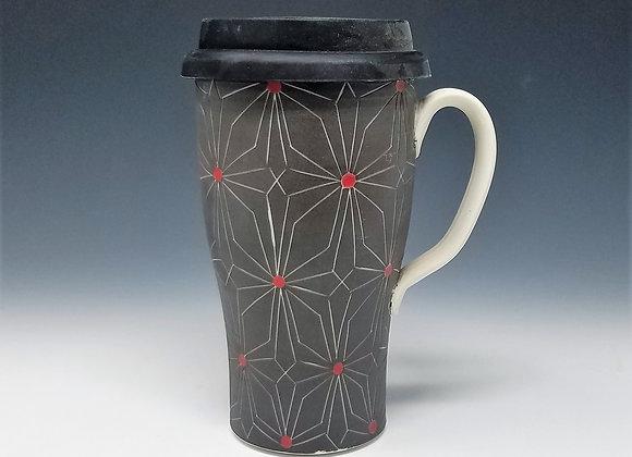 Gothic Flower Travel Mug