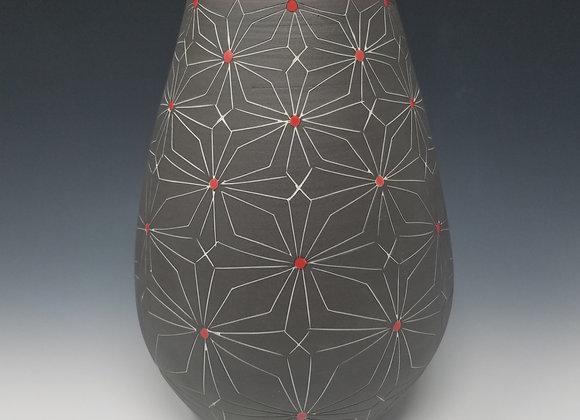 Round Bottom Vase with Gothic Pattern