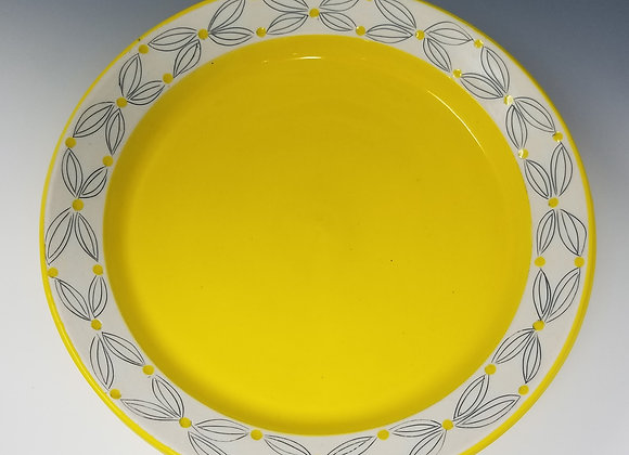 "10"" Dinner plate with Double Flower Pattern"