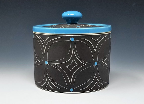 Blue Flower Canisters (select size/set)