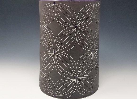 Purple Flower Utensil Holder