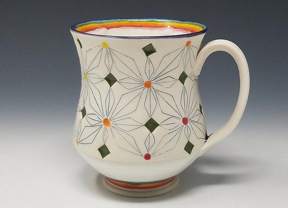Rainbow Mug with White interior Glaze