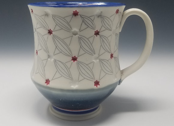 Stars and Stripes Mug with Blue interior Glaze
