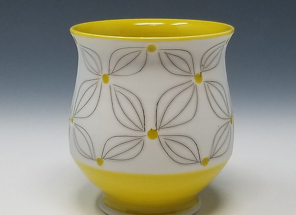 Double Flower Tea Cup