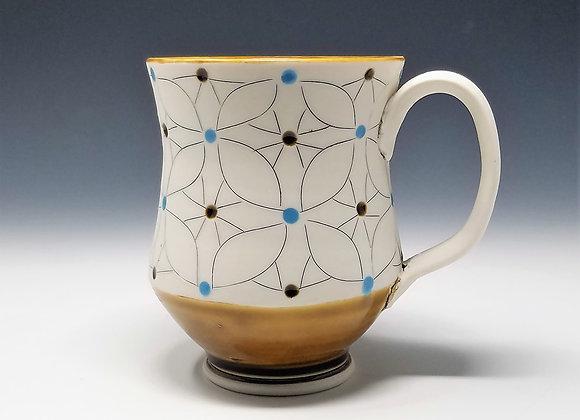 Overlapping Flower Mug