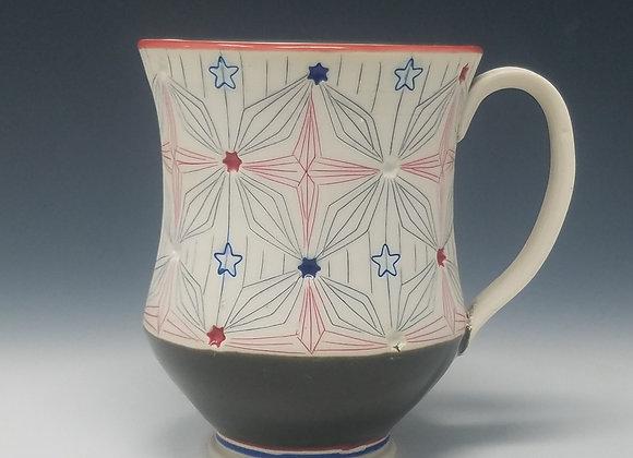 Stars and Stripes Mug with Grey interior Glaze