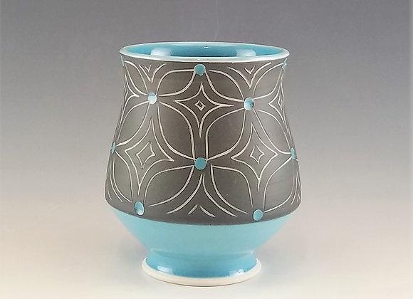 Blue Flower Tea Cup