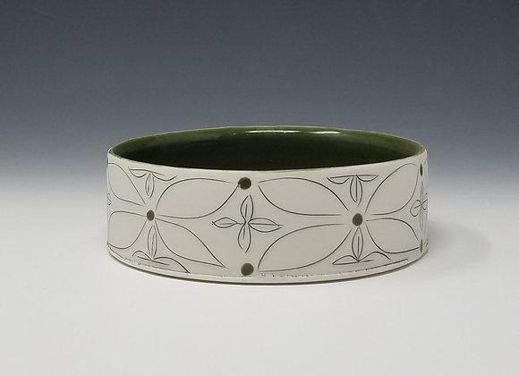 Green Flower Ikebana Vase