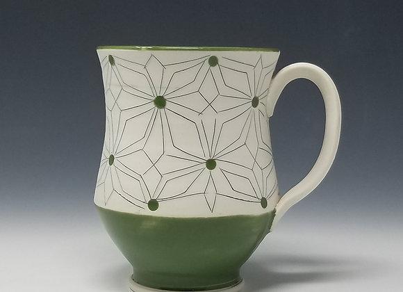 Gothic Mug with Green Glaze