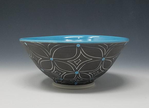 Blue Flower Cereal Bowl